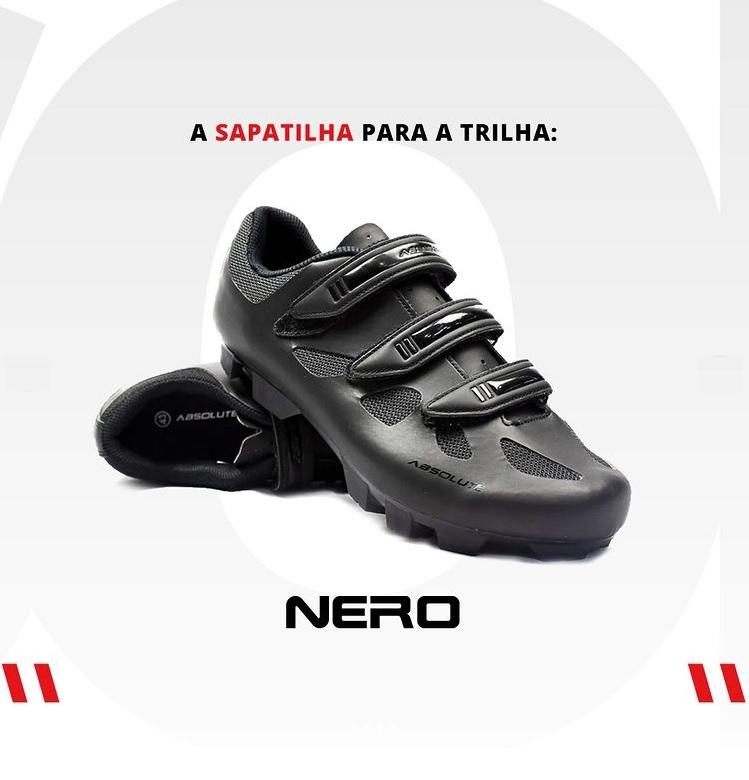 Sapatilha Bike Mtb Absolute Nero Ii Pto + Pedal Wellgo M919