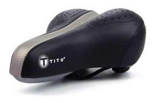 Selim Bicicleta Passeio Mtb Tito Pro Gel Elastômero 2 Molas