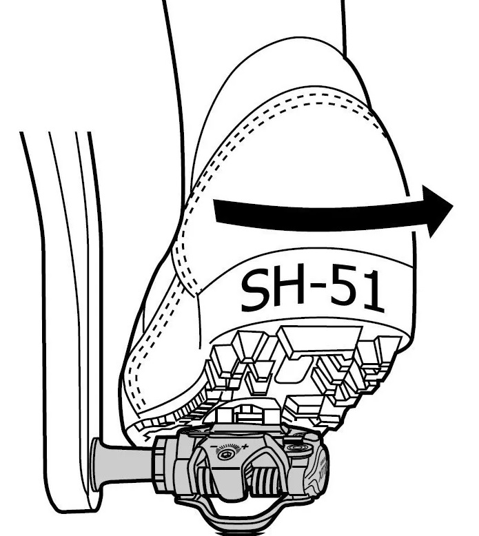 Taco / Taquinho Shimano P/ Pedal Mtb Sh51 - Lateral