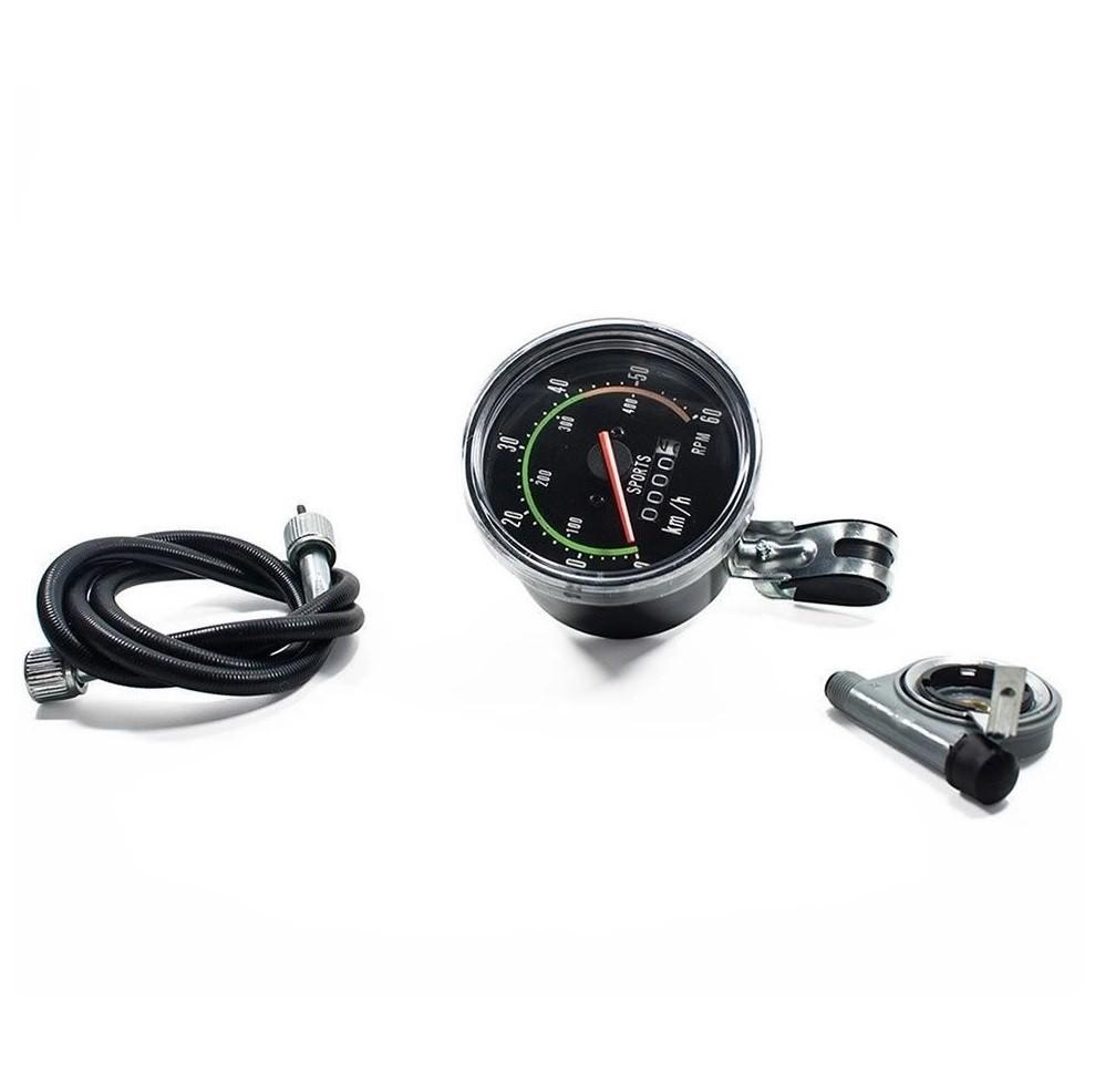 Velocímetro Bike Analógico com Odômetro 60km/h Jing Yi