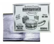Papel Acoplado para Hamburguer Temático 30x38 - 100 Unidades