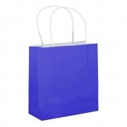 Sacola Azul Pequena 17x16x7 - 100 Unidades