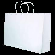 Sacola Branca Média 28x41,5x11 - 100 Unidades