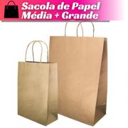 Sacola de Papel Média + Sacola de Papel Grande Vertical