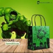 Sacolinha Surpresa Green Man Pequena 22x16x9 - 10 Unidades