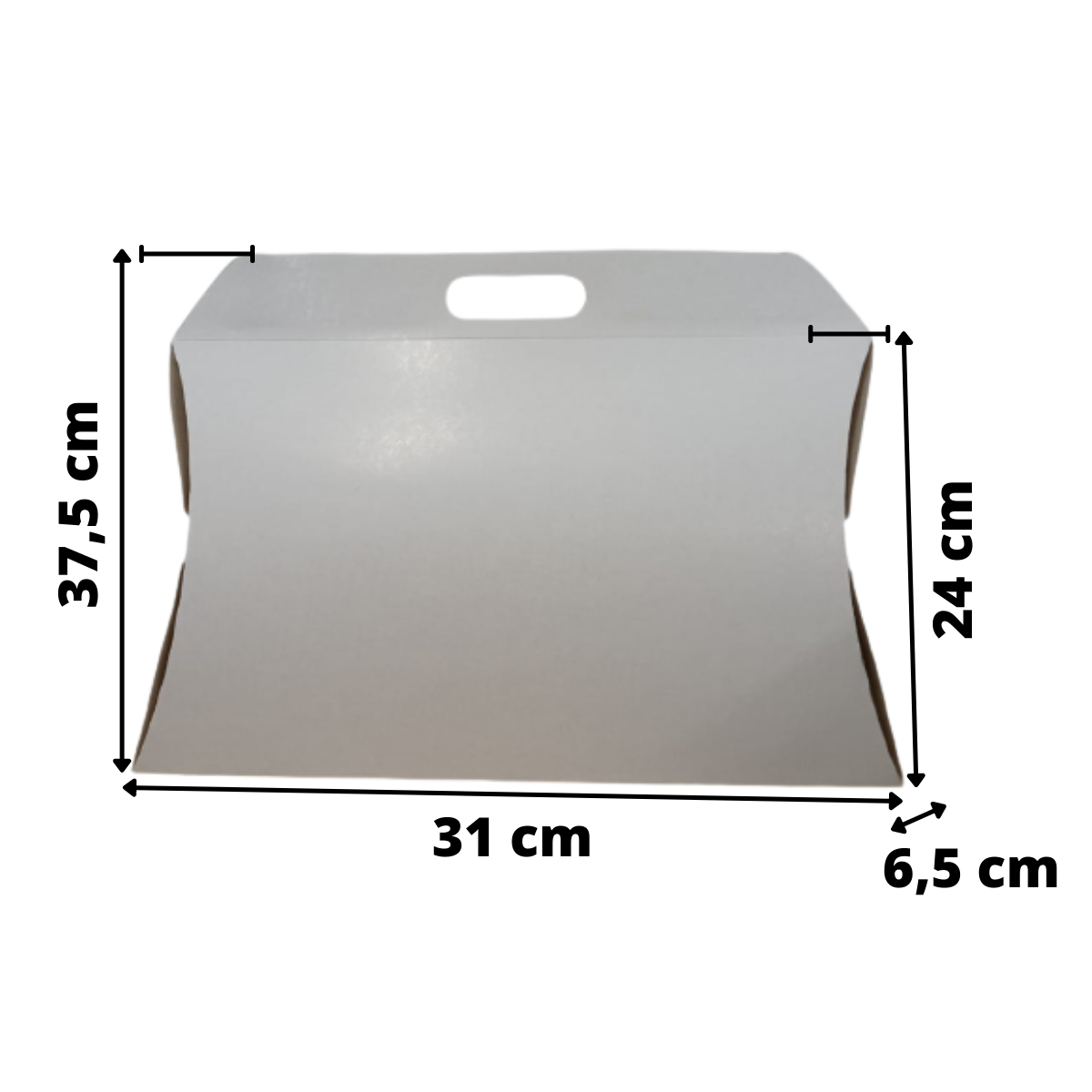 Caixa Almofada Grande Branca 37,5x31x6,5 - 50 Unidades