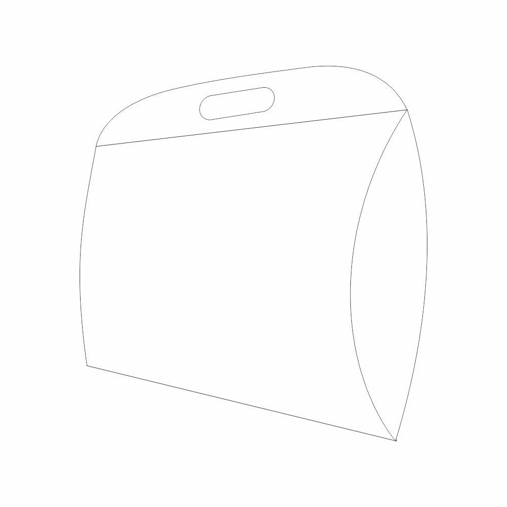 Caixa Oval Branca 37,5x31x6,5 - 50 Unidades