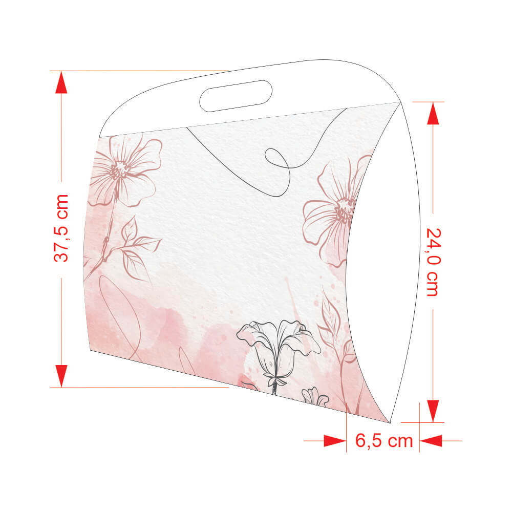 Caixa Almofada Grande Feminina 37,5x31x6,5 - 100 Unidades