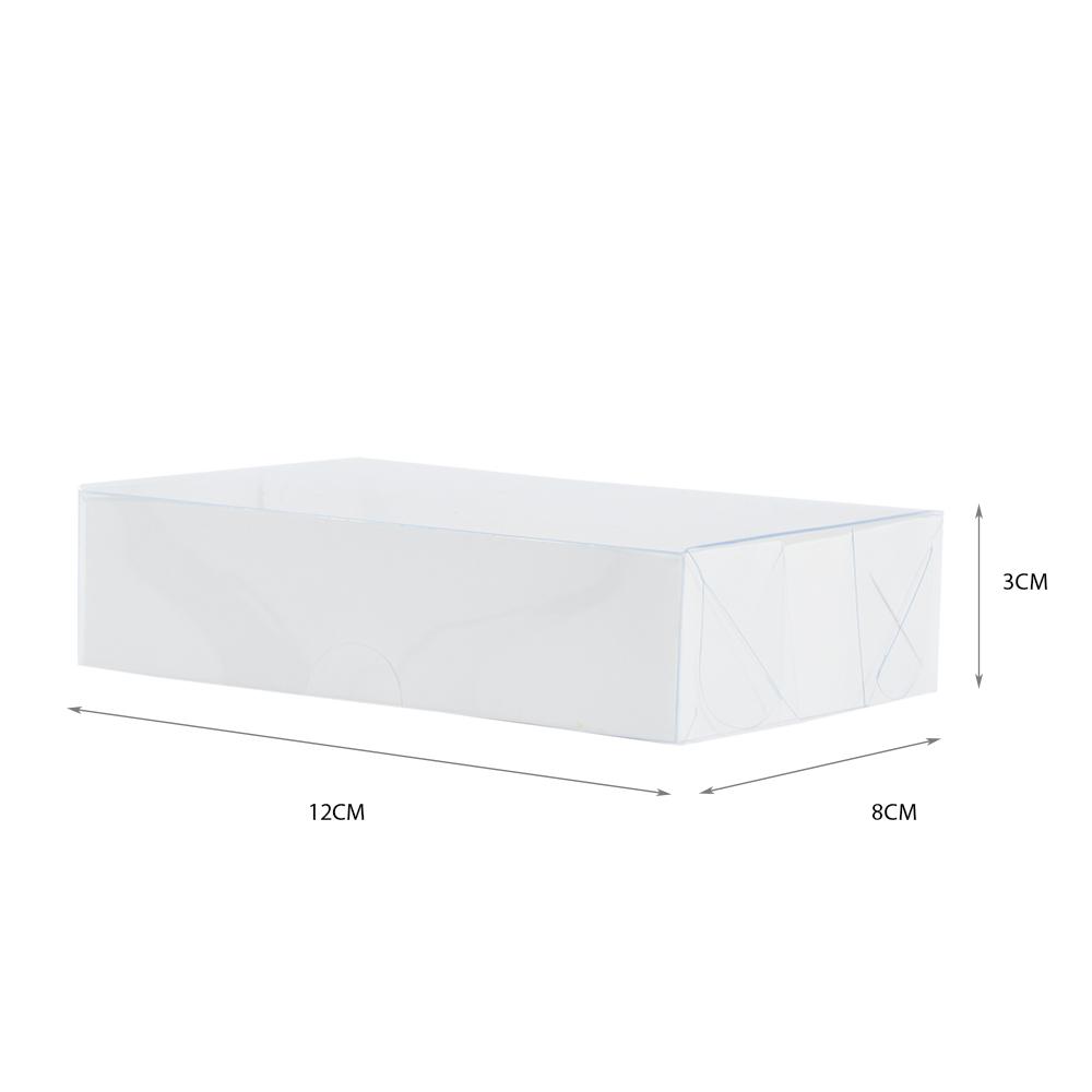 Caixa para Doce Branca com Visor 12x8x3 6 Doces - 20 Un