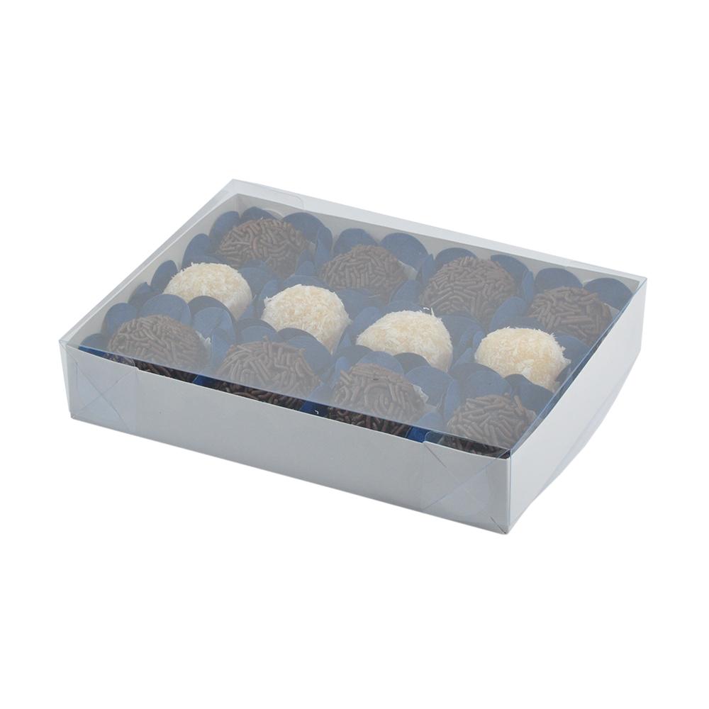 Caixa para Doce Branca com Visor 17x12,5x3 12 Doces - 20 Un