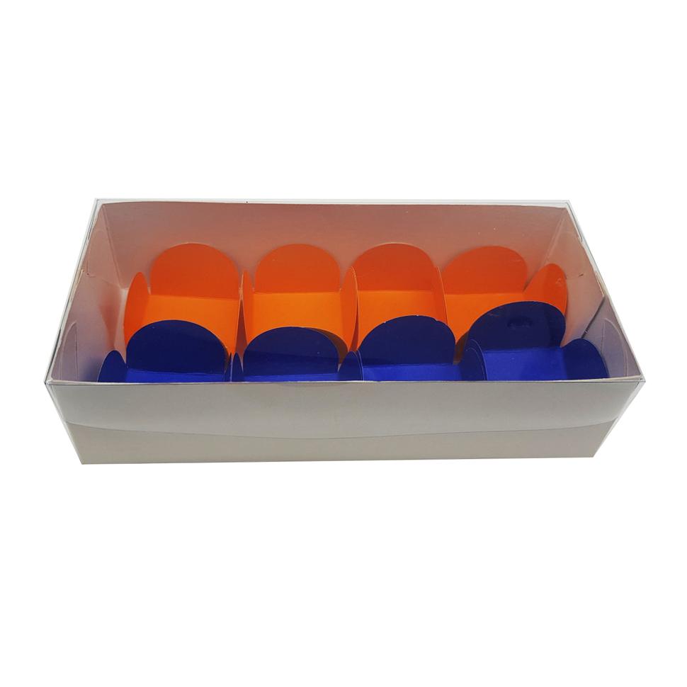 Caixa para Doce Branca com Visor 17x8x4,5 8 Doces - 20 Un