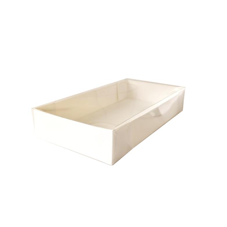 Caixa para Doce Branca com Visor 18x9x3 10 Doces - 20 Un