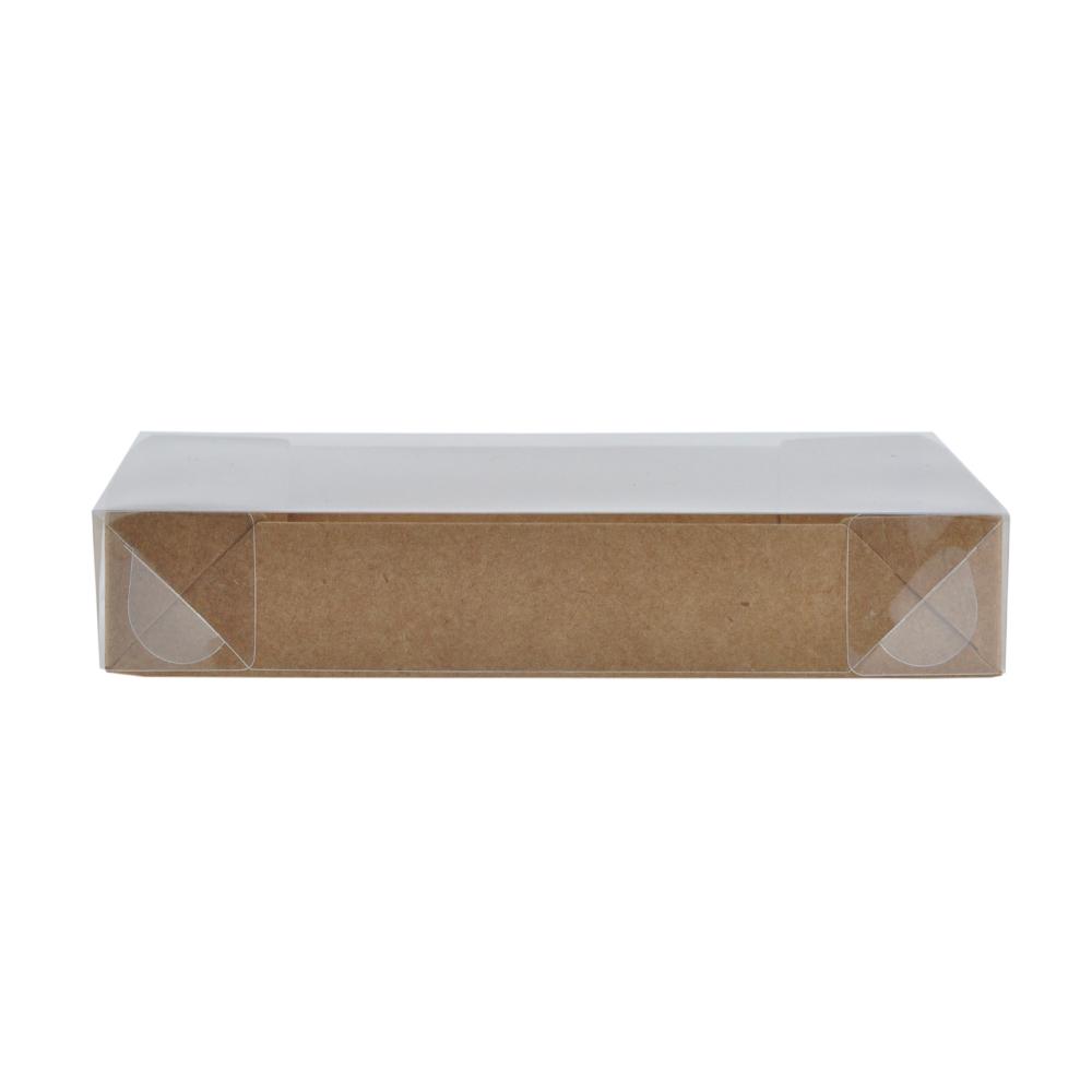 Caixa para Doce Kraft com Visor 17x12,5x3 12 Doces - 20 Un