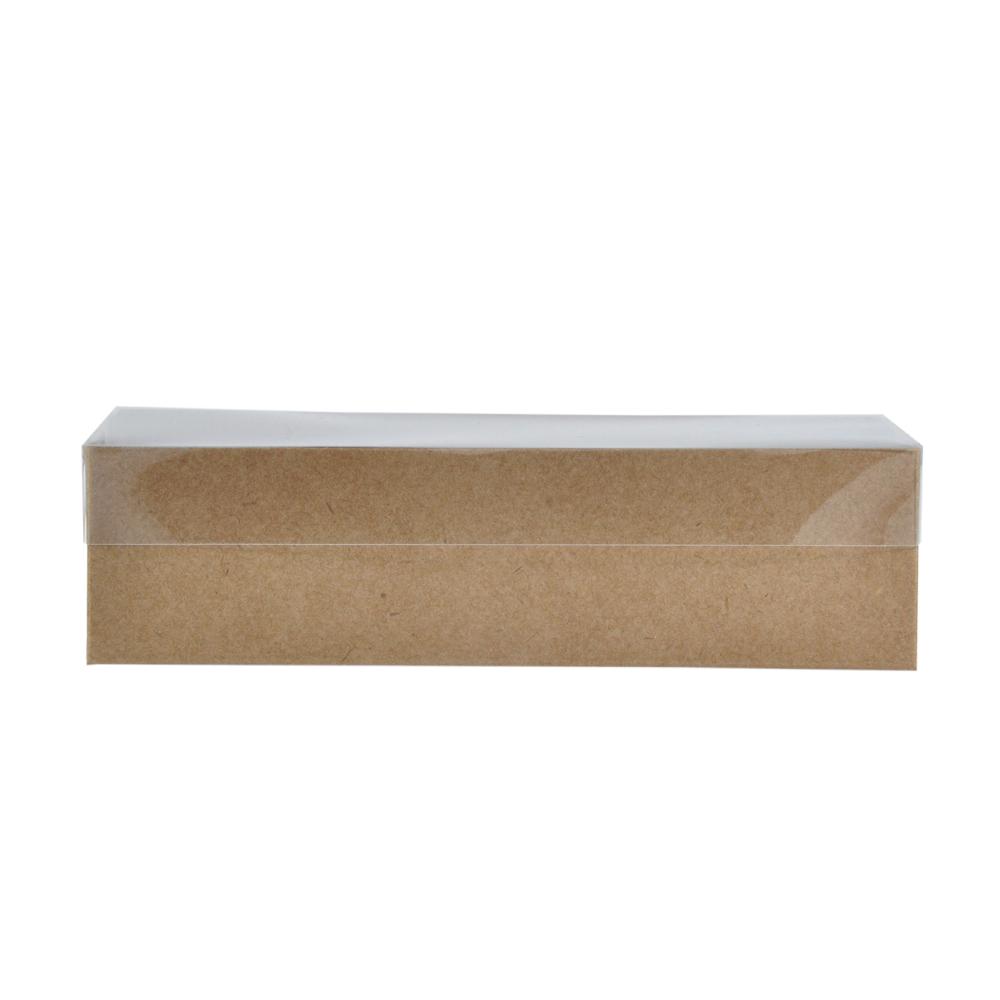 Caixa para Doce Kraft com Visor 17x8x4,5 8 Doces - 20 Un