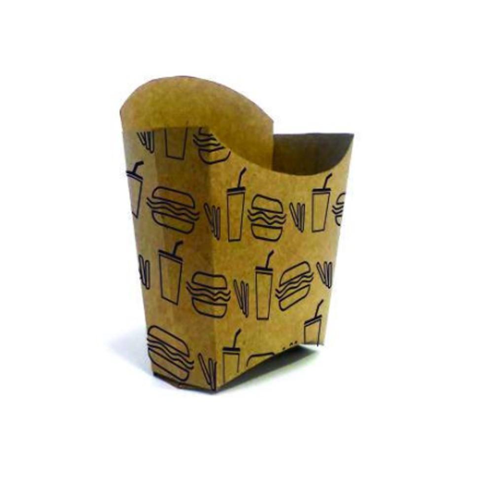 Embalagem para Batata Frita Kraft Temática 10x9x4 - 100 Unidades