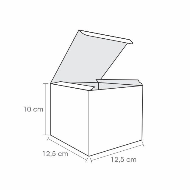 Embalagem para Lanche Kraft 10x12,5x12,5 - 50 Unidades