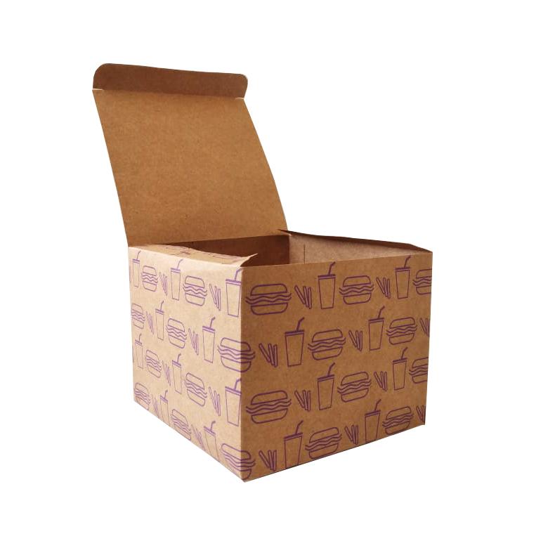 Embalagem para Lanche Kraft Temática 10x12,5x12,5 - 100 Unidades