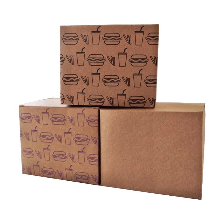 Embalagem para Lanche Kraft Temática 10x12,5x12,5 - 50 Unidades