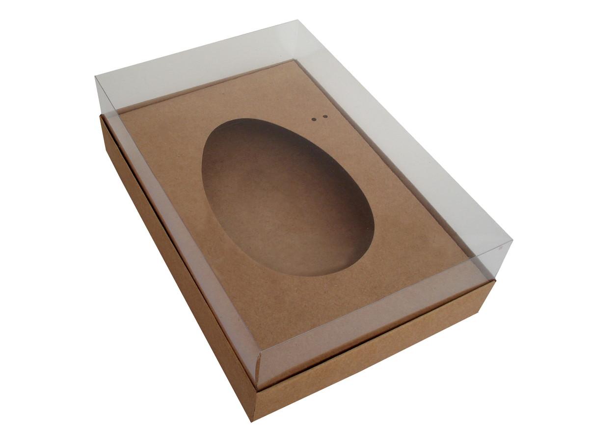 Embalagem para Ovo de Colher Kraft 18x14x7,5 - 10 Unidades