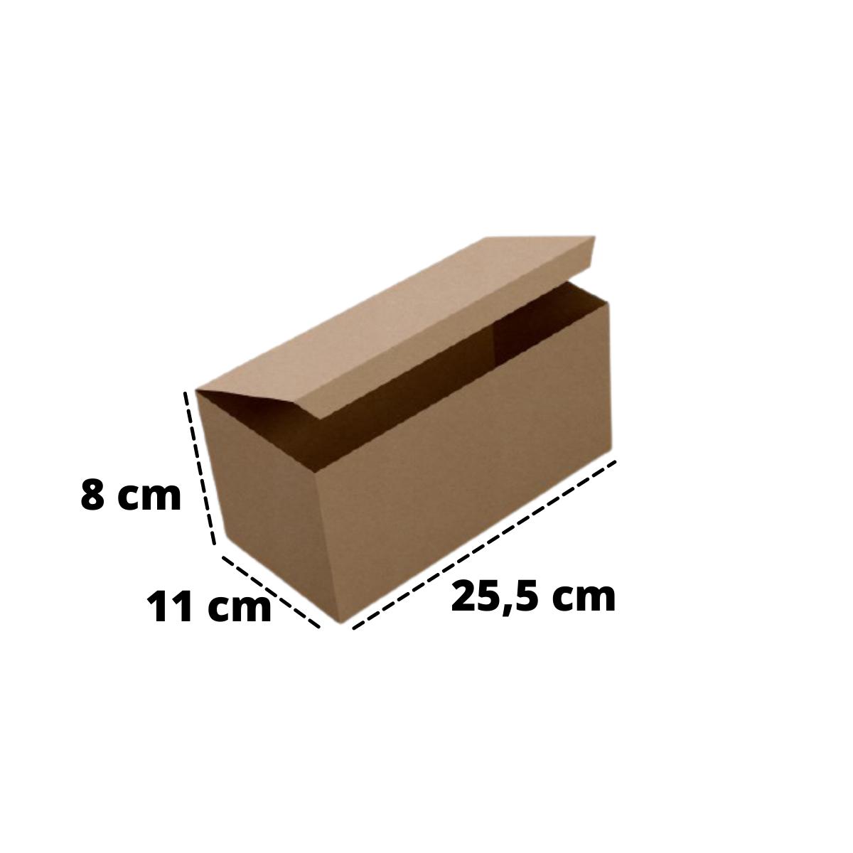 Embalagem para Porção Kraft 25,5x11x8 - 50 Unidades