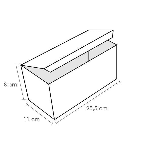 Embalagem para Porção Kraft Temática 25,5x11x8 - 50 Unidades