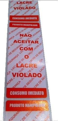 Etiquetas Adesivas Lacre Para Delivery  - 500 Unidades