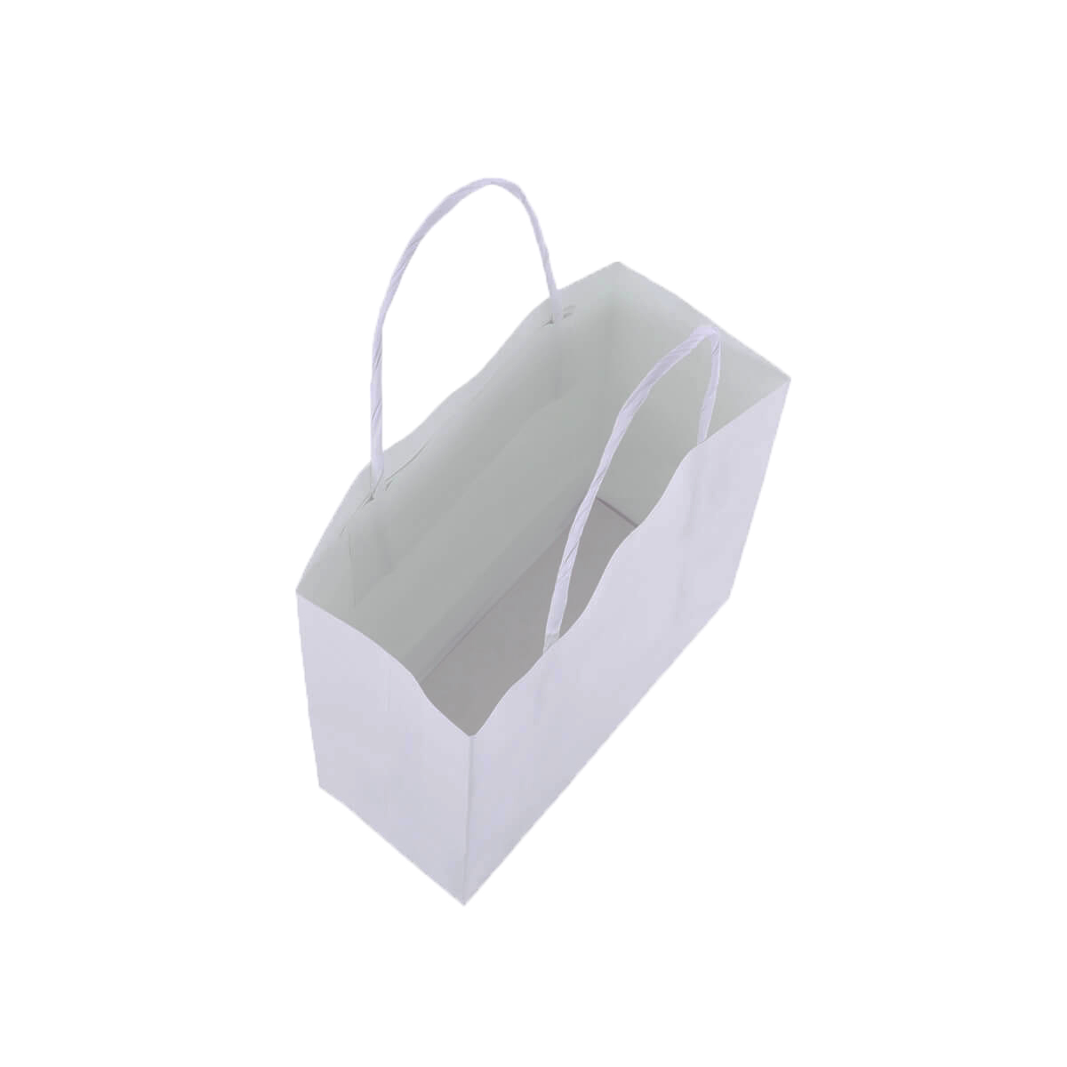 Sacola Branca Pequena 17x16x7 - 100 Unidades
