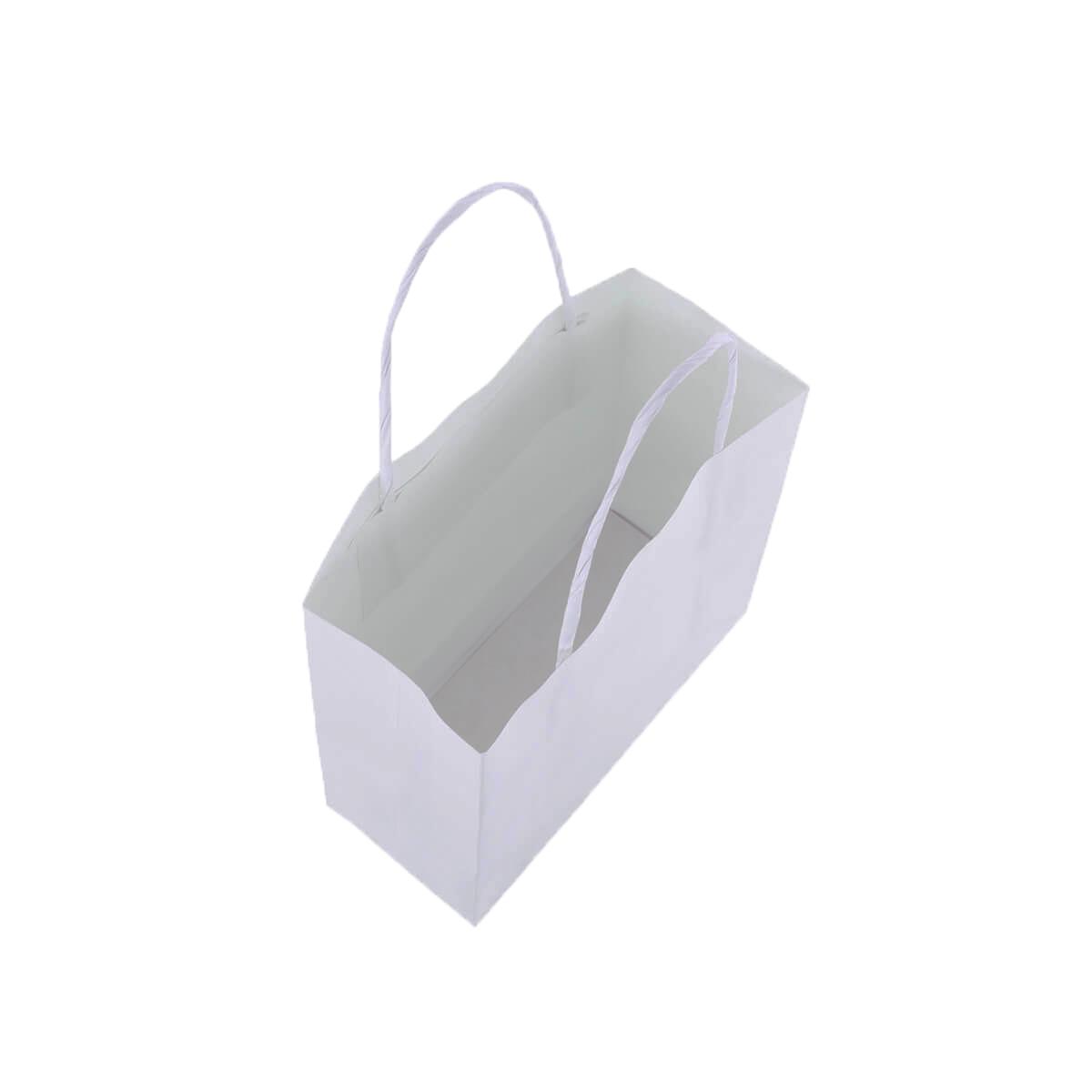 Sacola Branca Pequena 17x16x7 - 50 Unidades