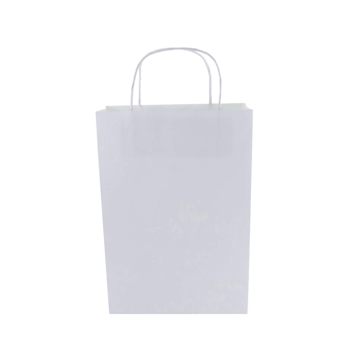 Sacola Branca Pequena 26x18x9  - 150 Unidades