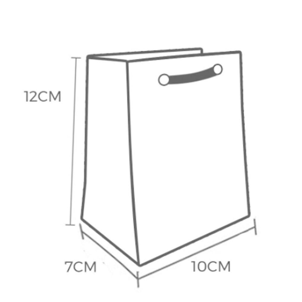 Sacola de Papel Kraft PP 12x10x7 - 100 Unidades