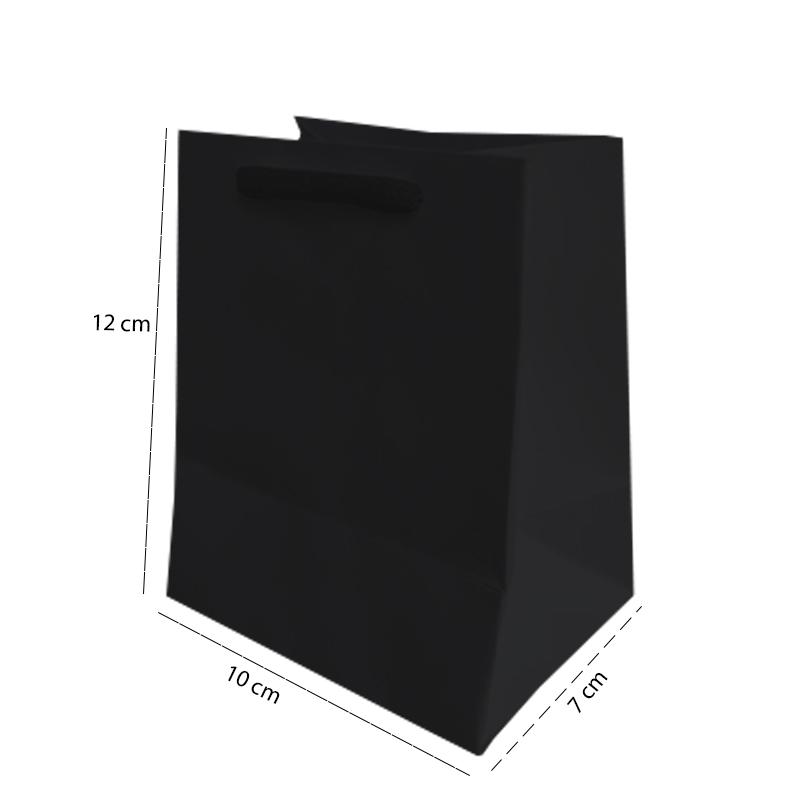 Sacola Preta PP 12x10x7 - 50 Unidades