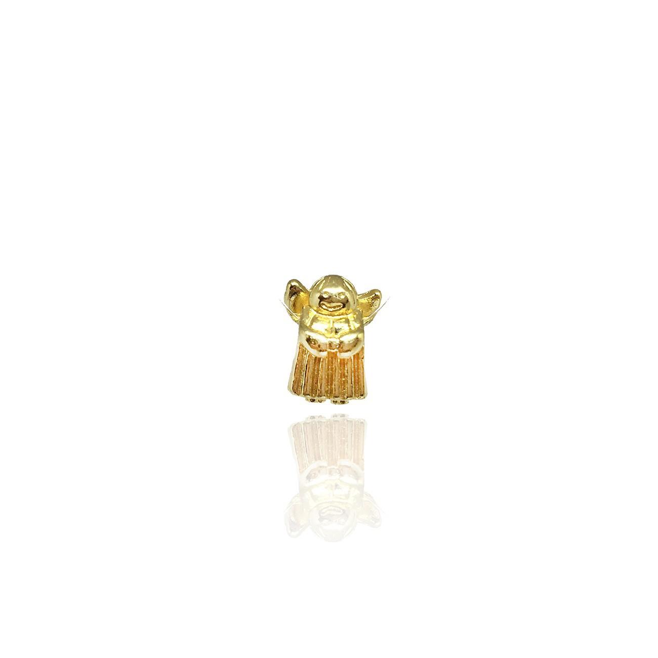 Berloque anjo da guarda banhado a ouro 18k