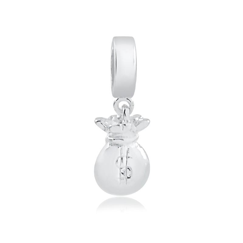 Berloque de Prata 925 Saco de Dinheiro