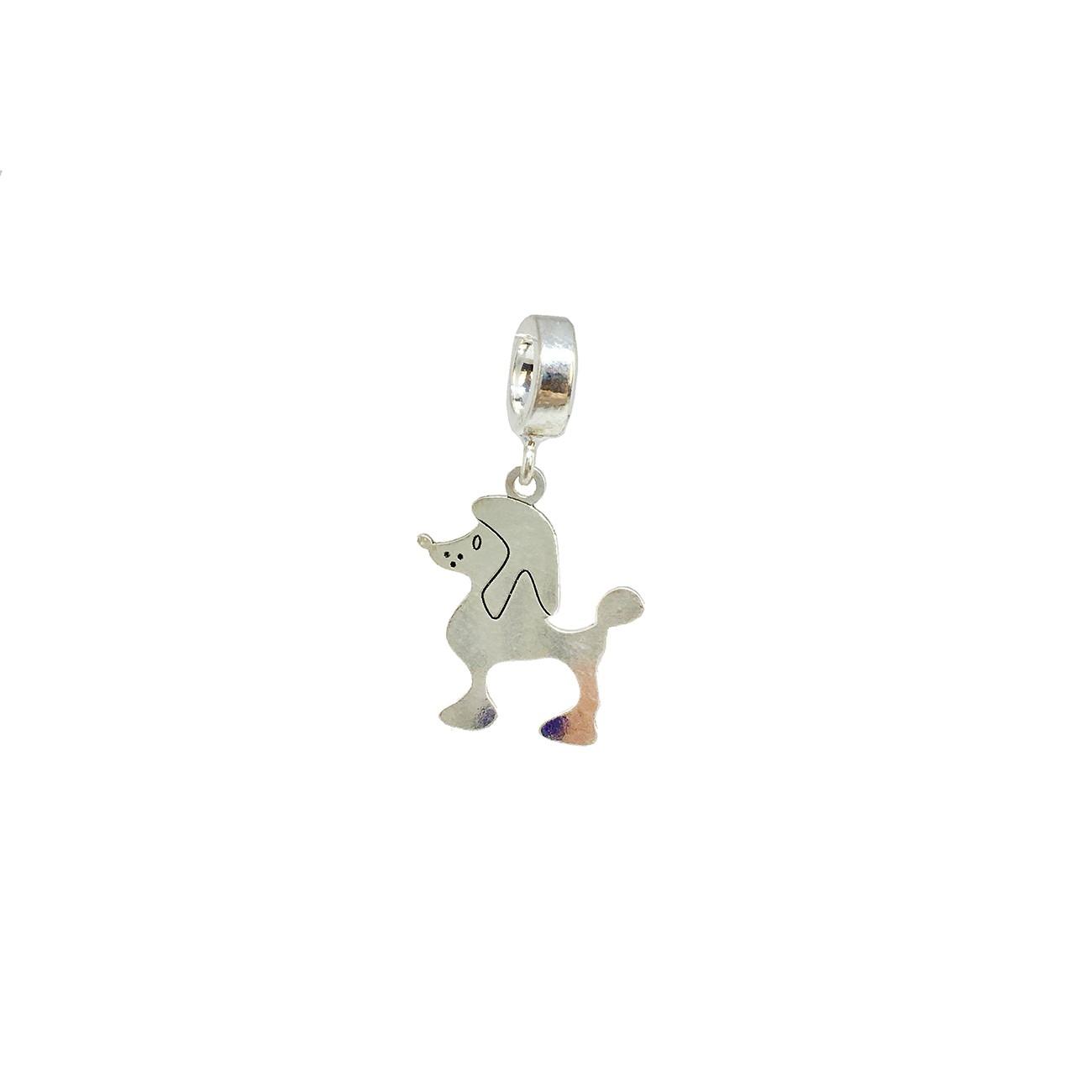 Berloque Poodle Prata 925
