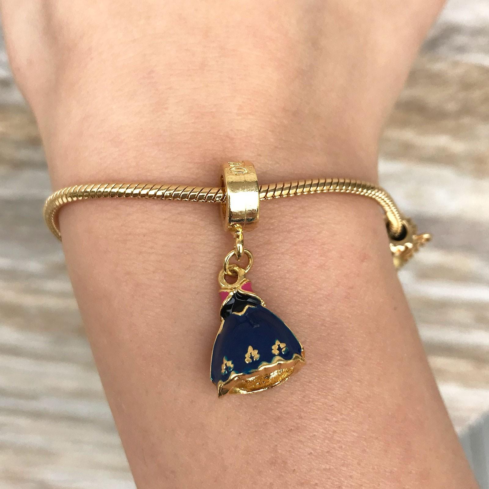 Berloque Princesa Anna Dourado Banhado à Ouro 18k