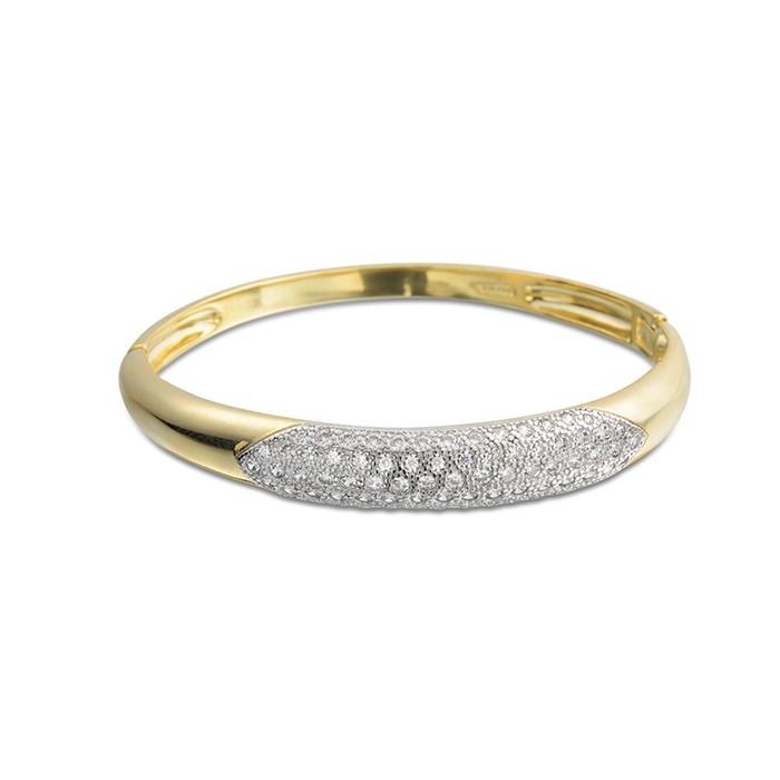 Bracelete de Festa Com Zircônas Banhado à Ouro 18k