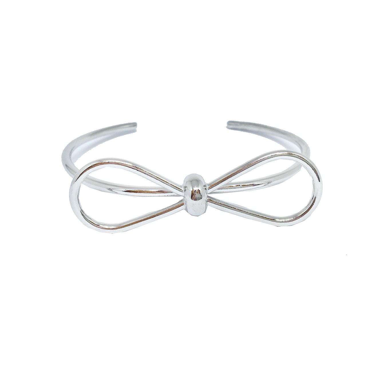 Bracelete de Lacinho Banhado a Prata