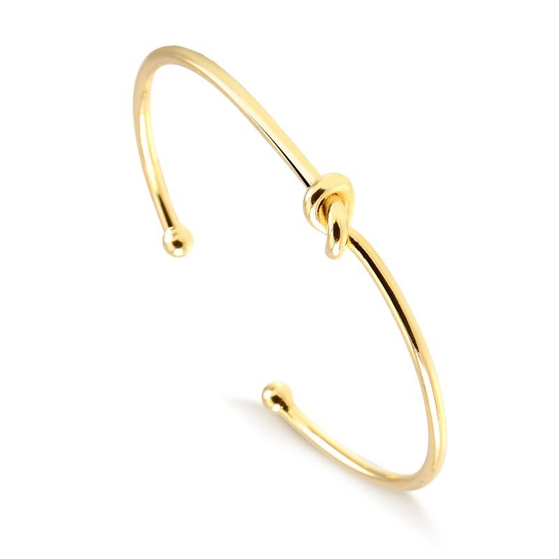 Bracelete de nózinho banhado a ouro 18k feminino