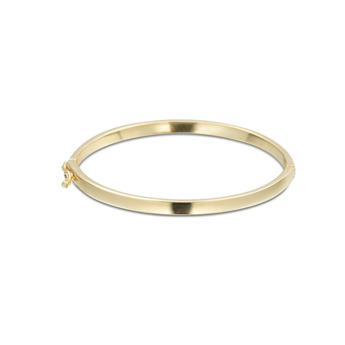 Bracelete Liso Fino Banhado à Ouro 18k