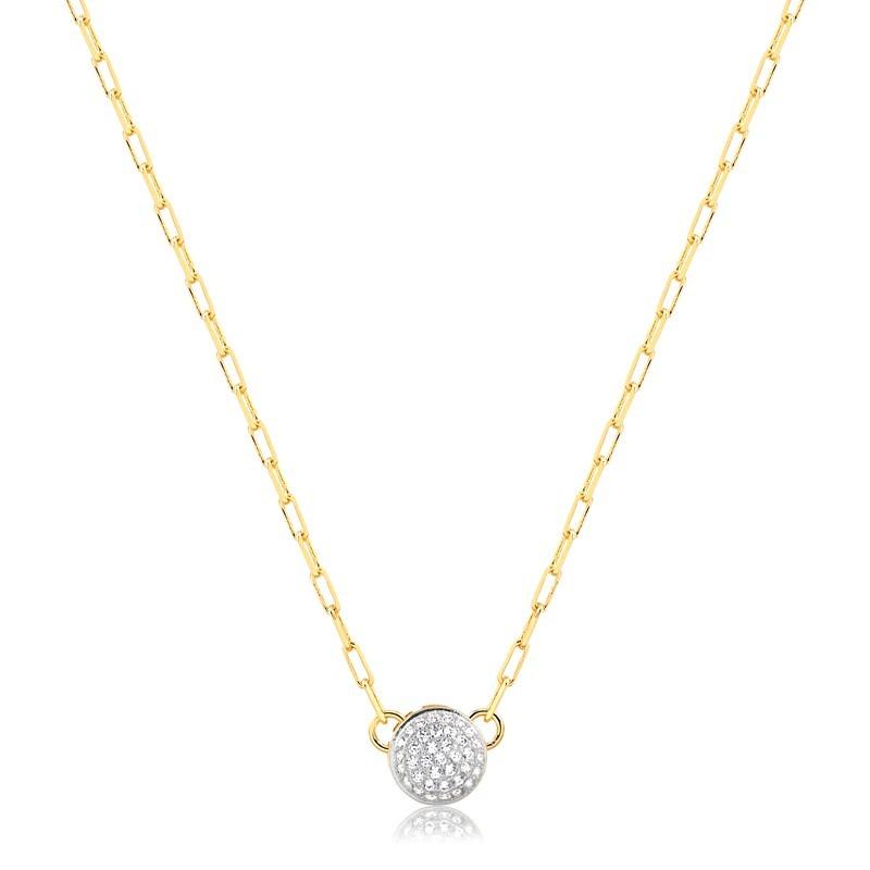 Choker Cartier com Pingente Cravejado Banhado à Ouro 18k Feminino