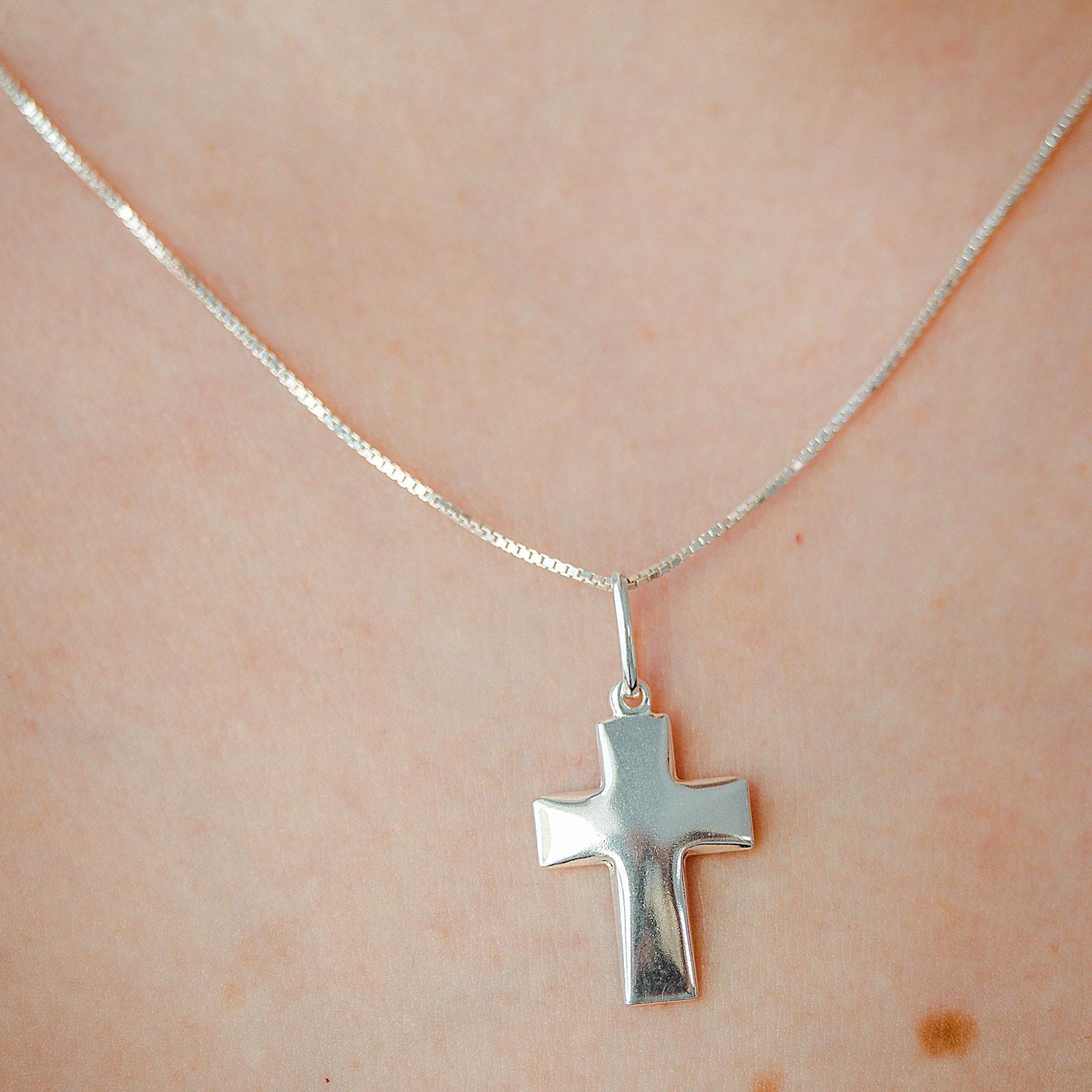 Colar de Crucifixo Prata 925 Feminino
