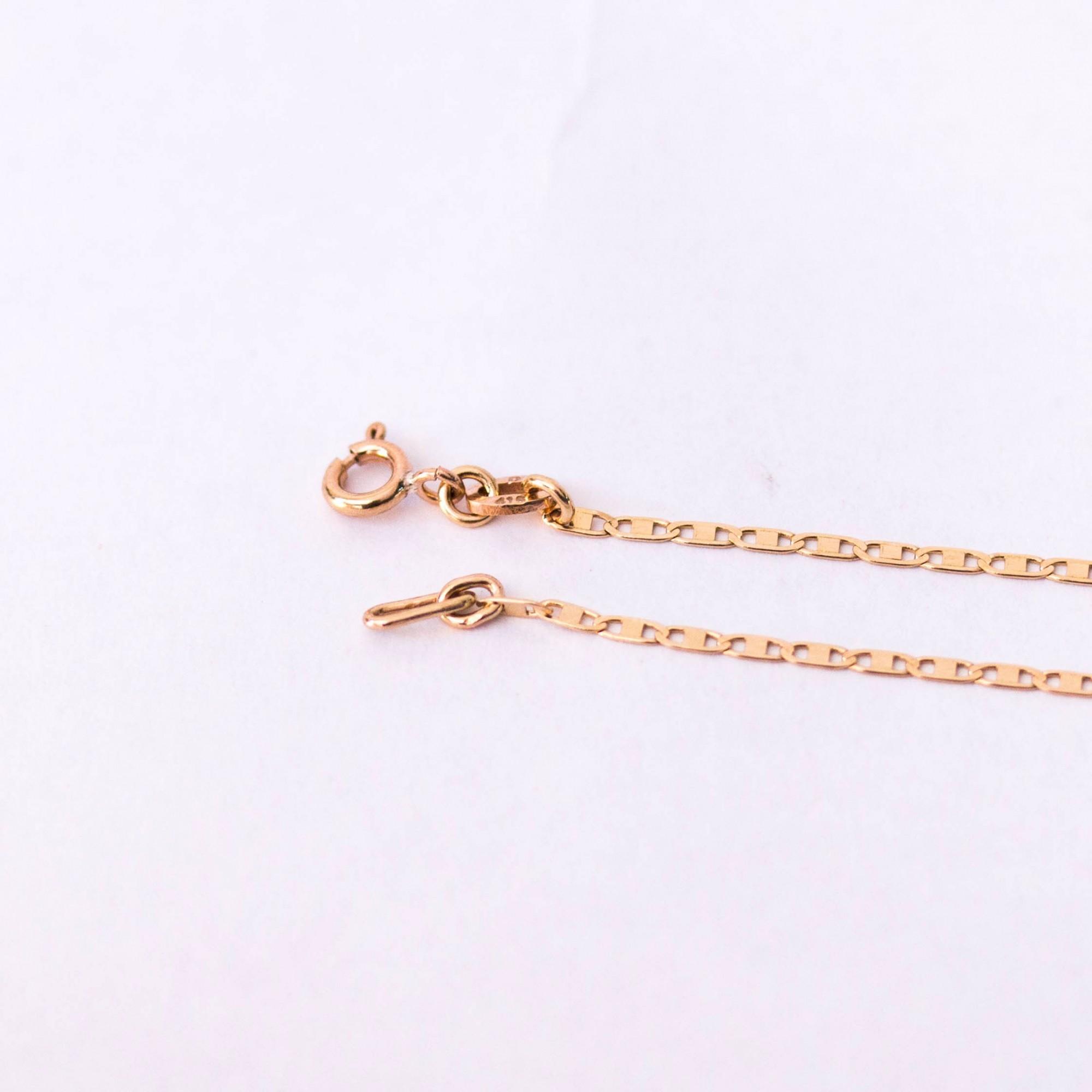 Colar de Ouro 16k Malha Piastrine 45cm