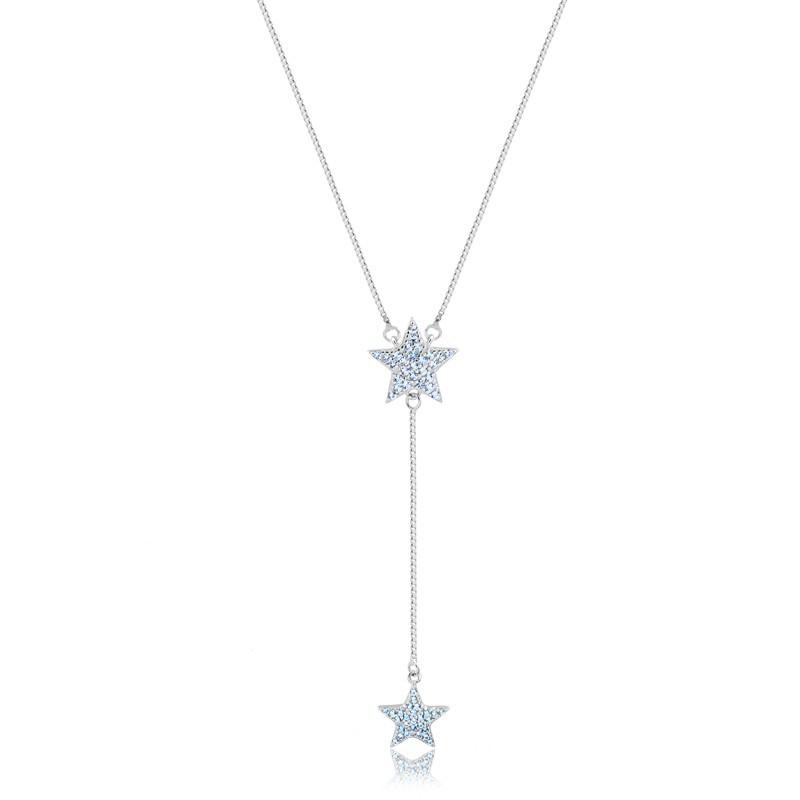 Colar Gravatinha de Estrela Prata 925 Feminino
