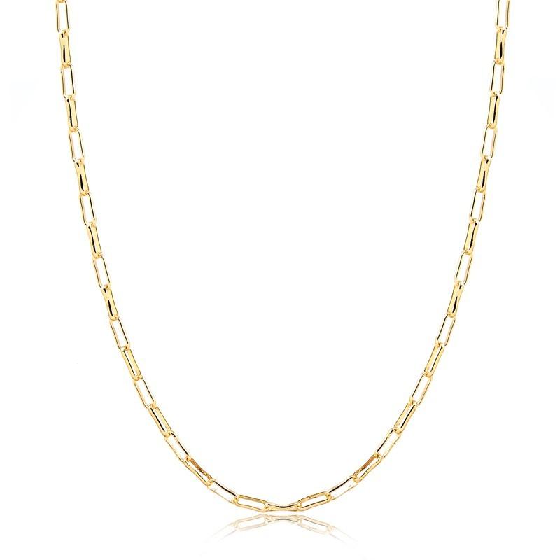 Corrente Cartier 60cm Banhada à Ouro 18k Unissex