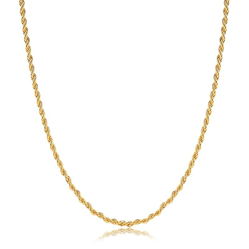Corrente cordão baiano 60cm banhado à ouro 18k feminina