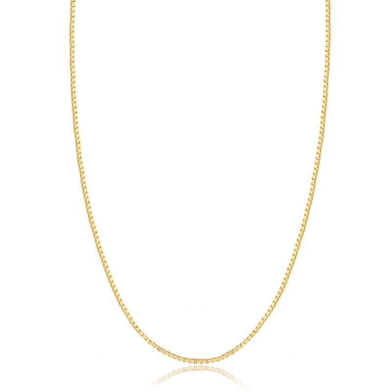 Corrente Feminina Fina Banhada a Ouro 18k Veneziana 45cm
