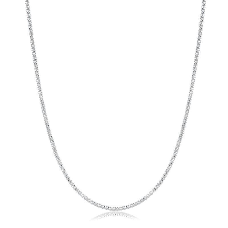 Corrente Pipoca 40cm Prata 925 Feminina