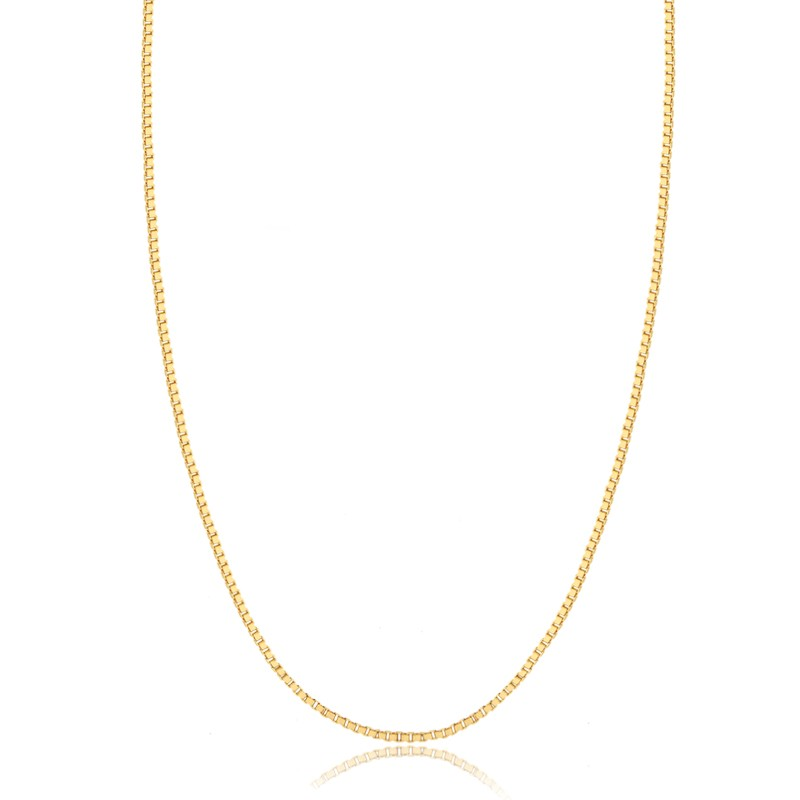 Corrente veneziana 40cm banhada a ouro 18k feminina