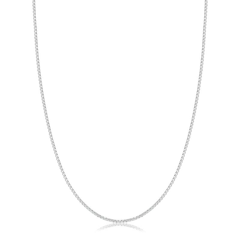 Corrente Veneziana 45cm Prata 925 Feminina