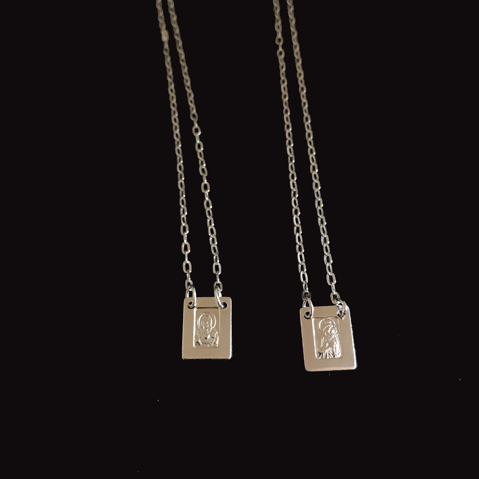 Escapulário Prata 925 Unissex 65cm